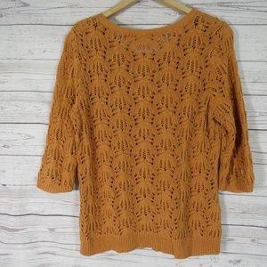 J Jill Sweaters J Jill Sweater Womens Medium M Burnt Orange Knit